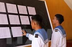 [Photo] Không khí chuẩn bị bầu cử trên quần đảo Trường Sa
