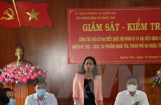 Phó Chủ tịch nước Võ Thị Ánh Xuân kiểm tra công tác bầu cử ở Gia Nghĩa