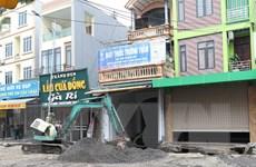 Cơ bản hoàn thành khắc phục sự cố sụt lún đất ở huyện Chương Mỹ