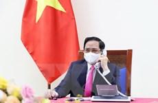 Thủ tướng Phạm Minh Chính điện đàm với Thủ tướng Nhật Bản S.Yoshihide