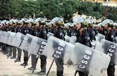 Lực lượng CSCĐ thực binh phương án đảm bảo an ninh trật tự cuộc bầu cử