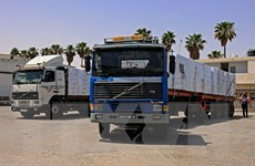 Xung đột Israel-Palestine: Ai Cập gửi 130 xe hàng cứu trợ tới Dải Gaza