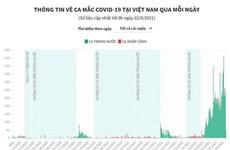 [Infographics] TP Hồ Chí Minh đứng sau Bắc Giang về số ca mắc COVID-19
