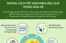 [Infographics] Những cách tiết kiệm điện hiệu quả trong mùa Hè