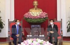 Thường trực Ban Bí thư Võ Văn Thưởng tiếp Đại sứ Campuchia