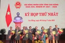 Cao Bằng bầu các chức danh HĐND, UBND nhiệm kỳ 2021-2026