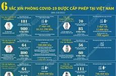 Sáu vaccine phòng COVID-19 được cấp phép tại Việt Nam đến ngày 3/8