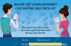 [Infographics] Người Việt dùng Internet cho những mục đích gì?