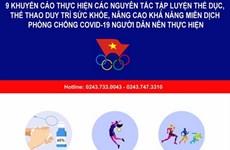 Khuyến khích dân tập thể dục tại chỗ nâng cao sức khỏe trước dịch bệnh