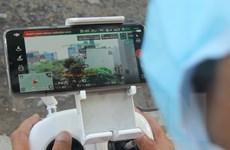 Đà Nẵng dùng flycam để kiểm tra việc phòng, chống dịch bệnh