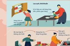[Infographics] Sát khuẩn đúng cách khi nhận hàng hóa để tránh COVID-19