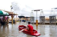 Thái Lan: Nhiều ngôi chùa ngập trong lũ lụt ở thành phố Ayutthaya