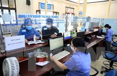 Hình ảnh ga Hà Nội mở lại bán vé, sau một thời gian tạm ngừng do dịch