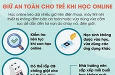 [Infographics] Giữ an toàn cho trẻ khi học online tại nhà