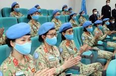 [Photo] Tuyên dương tập thể, cá nhân tham gia gìn giữ hòa bình LHQ