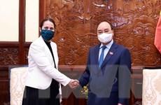 Hình ảnh Chủ tịch nước tiếp Đại sứ đặc mệnh Toàn quyền New Zealand