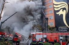 Cháy ở phố Trần Thái Tông: Chưa có nạn nhân được chuyển đến bệnh viện