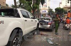 Hà Nội: Ôtô mất lái trên đường Bà Triệu đâm 3 người trọng thương