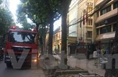 Hà Nội: Chập điện cầu thang máy gây cháy tại Viện Ứng dụng Công nghệ