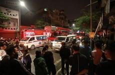Hà Nội: Cháy lớn trên phố Tôn Đức Thắng, có người tử vong