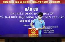 Hình ảnh ấn tượng của ĐTQG và U22 Việt Nam trong ngày bầu cử
