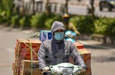 Hà Nội: Người lao động oằn mình mưu sinh dưới nắng nóng gay gắt