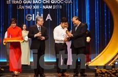 VietnamPlus giành giải A, B, C tại Giải Báo chí Quốc gia 2018