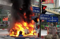 Danh tính nạn nhân trong vụ xe Mercedes gây tai nạn rồi bốc cháy