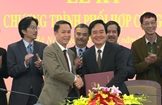Thông tấn xã Việt Nam ký hợp tác với Đại học Quốc gia Hà Nội