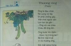 """Thực hư vụ """"bóp méo"""" bài thơ """"Thương ông"""" trong sách Tiếng Việt lớp 2"""