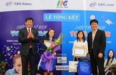 Đoàn Hà Nội đoạt thành tích xuất sắc trong cuộc thi TOEFL Junior 2014