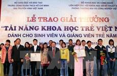 Tạm dừng xét giải thưởng Tài năng khoa học trẻ Việt Nam năm 2015