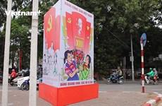 [Video] Thủ đô Hà Nội rộn ràng cờ hoa trước thềm Đại hội Đảng XIII