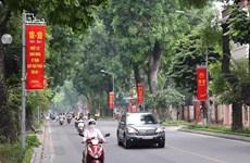 Đường phố Hà Nội khoác màu áo mới chào mừng ngày giải phóng Thủ đô