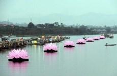 [Photo] Thắp sáng bảy đóa sen trên dòng sông Hương