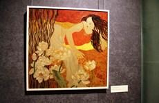 [Photo] Những bức tranh sơn mài tuyệt đẹp tại triển lãm ở Nga