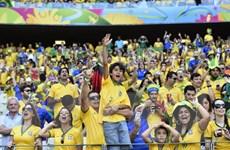 """Người giàu Brazil """"đốt tiền"""" để vào sân vận động xem túc cầu"""