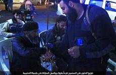 IS phát kẹo để ăn mừng các vụ khủng bố đẫm máu ở Brussels