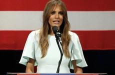 """Vợ tỷ phú Trump """"đạo"""" bài phát biểu của bà Michelle Obama"""