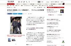 Một loạt tờ báo Nhật Bản đưa tin về vụ bắt nghi phạm giết bé Nhật Linh
