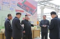 Ông Kim Jong-un khỏe mạnh, vui tươi khi dự lễ khánh thành nhà máy
