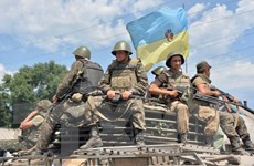 Ukraine đưa xe tăng hạng nặng vào thủ đô Kiev