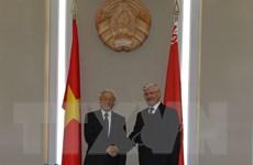 Tổng Bí thư Nguyễn Phú Trọng hội kiến Chủ tịch Thượng viện Belarus