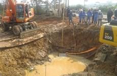 Lại vỡ đường ống nước Sông Đà, Viwaco cam kết khắc phục sớm