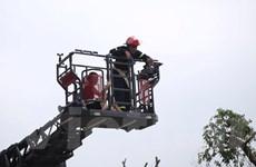 [Photo] Cận cảnh hiện trường vụ cháy tòa nhà chung cư HH4a Linh Đàm