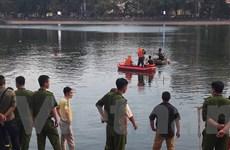 Tìm vớt xác thanh niên lao xuống hồ Thiền Quang nghi tự tử