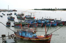 Quảng Trị: Cứu hộ an toàn 6 thuyền viên bị sóng đánh chìm tàu