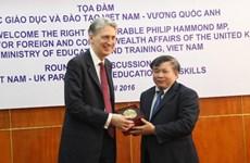 Việt Nam đề xuất Vương quốc Anh hỗ trợ 5 nội dung về giáo dục