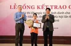 Học sinh trường Tiểu học Nghĩa Tân về nhất cuộc thi Olympic Tiếng Anh