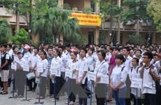 Hơn 75.000 học sinh Hà Nội bắt đầu cuộc đua vào lớp 10